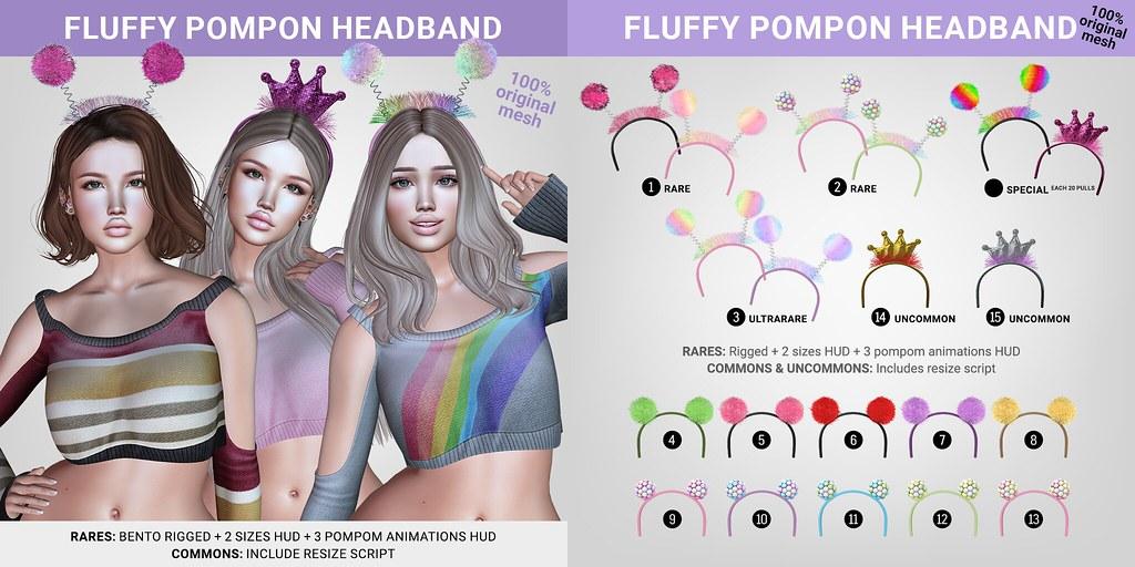 SEmotion Libellune Bento Fluffy PomPom Headband - TeleportHub.com Live!