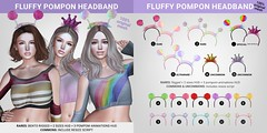 SEmotion Libellune Bento Fluffy PomPom Headband