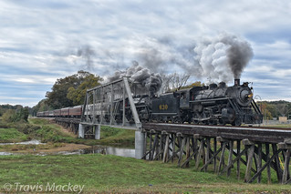 TVRM Summerville Steam Special crossing over the Chattooga River