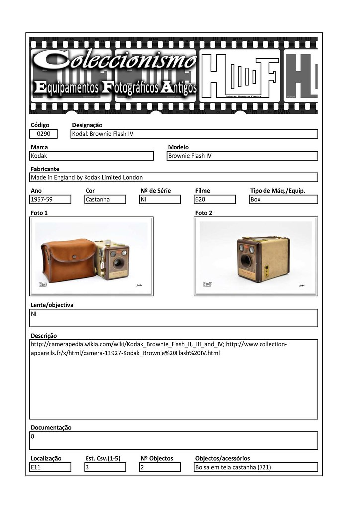 Inventariação da colecção_0290 Kodak Brownie Flash IV