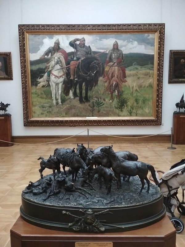 Москва - Третьяковская галерея - Три богатыря