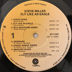 STEVE MILLER BAND:FLY LIKE AN EAGLE(LABEL SIDE-A)