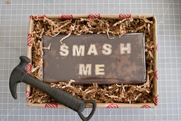 "2 Pounds of ""Smash Me"" Chocolate Block"
