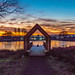 Sunrise, Viewing Platform, Larbert Loch, Scotland.