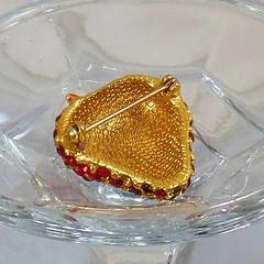 Rhinestone Brooch. Vintage Brooch. Strawberry Brooch. Red Rhinestone Brooch. Vintage Jewelry. Jewelry for Women. Strawberry Pin. waalaa.