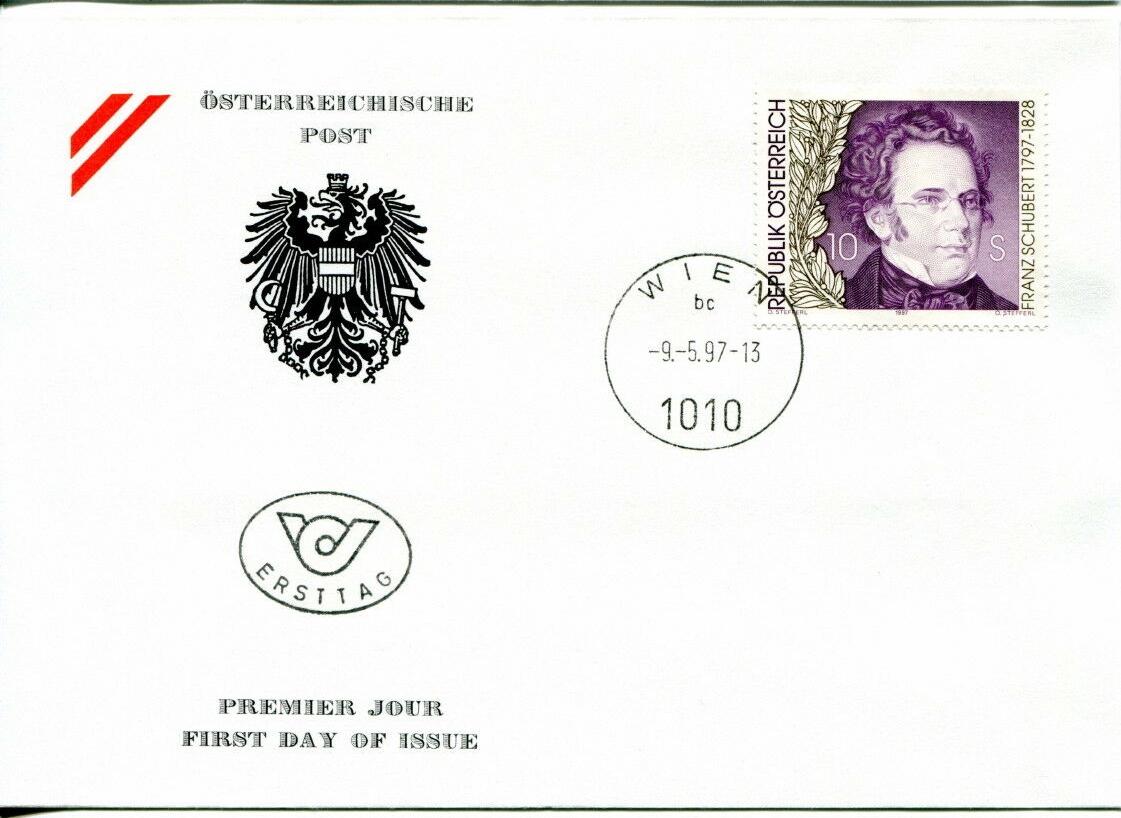 Austria - Scott #1724 (1997) first day cover