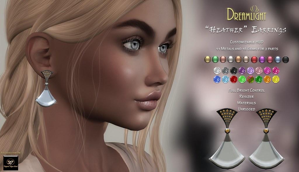 "[Dreamlight] ""Heather"" Earrings // Original Vogue Event"