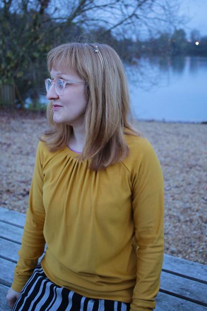 Mustard Grainline Studio Linden Sweatshirt