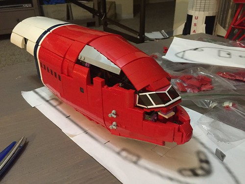 LEGO 787 the nose is slowly coming along