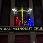 Central Methodist Church Christmas decorations