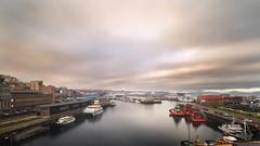 Amaneciendo en el Puerto de Vigo