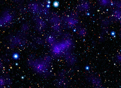 NASA's Spitzer Space Telescope contributed to the infrared component of the observations of a surprisingly large collections of galaxies. Original from NASA. Digitally enhanced by rawpixel.