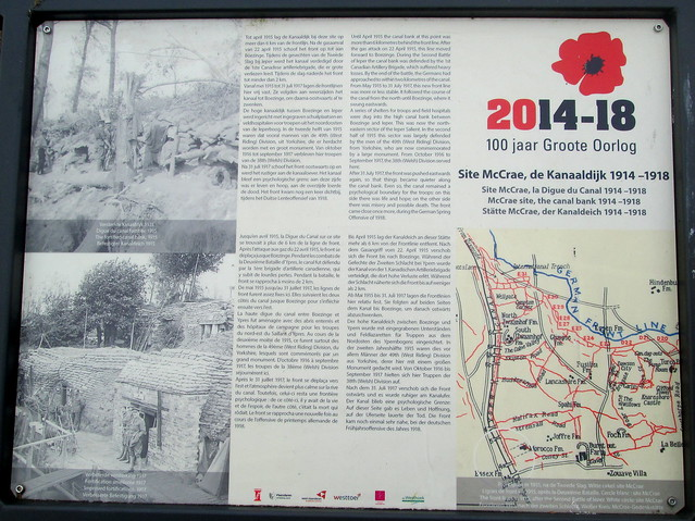 Information Board Essex Farm Cemetery, Ypres