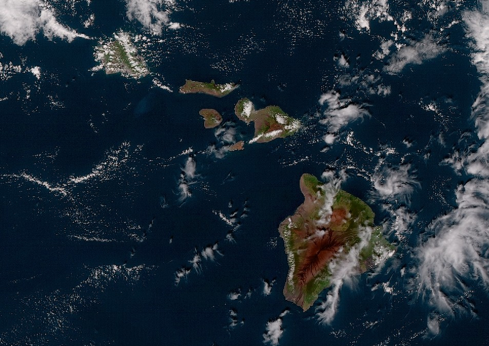 GOES-17 Shares First Images of Hawaii
