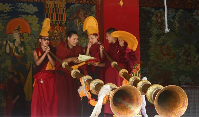 The long horn players of Litang Gön, Tibet 2018 of