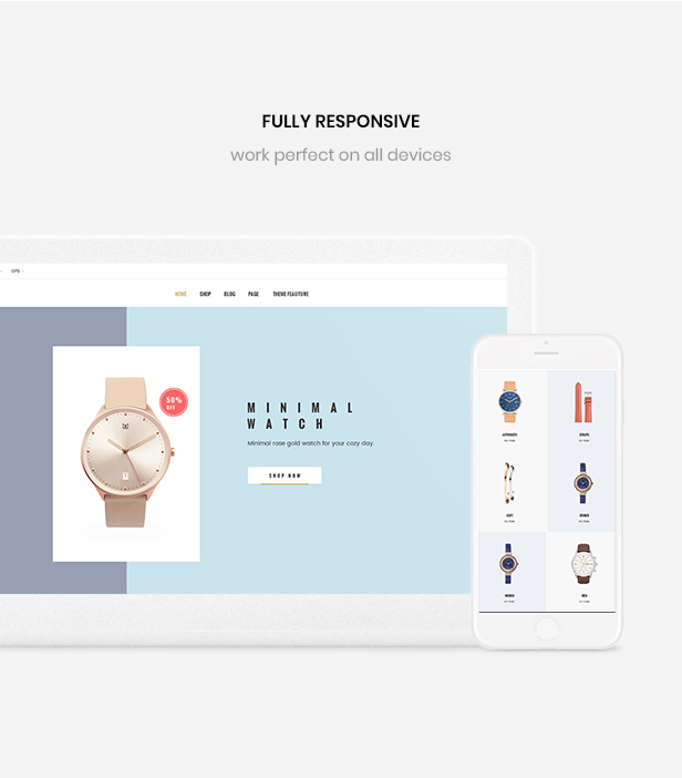 shopify theme minimalist - Mobile optimized design