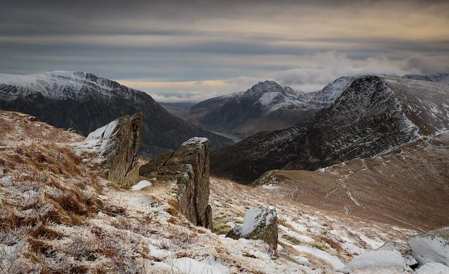 The Ogwen Valley from Mynydd Perfedd - Snowdonia - Wales