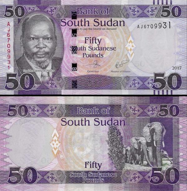 50 Juhosudánskych Libier, Južný Sudán 2017, P14c