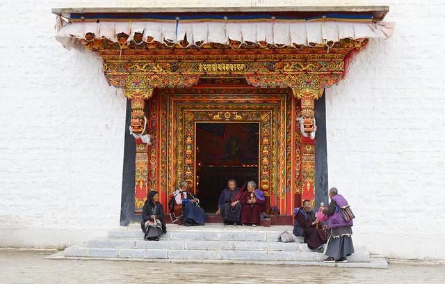 Pilgrims at Litang monastery, Tibet 2018