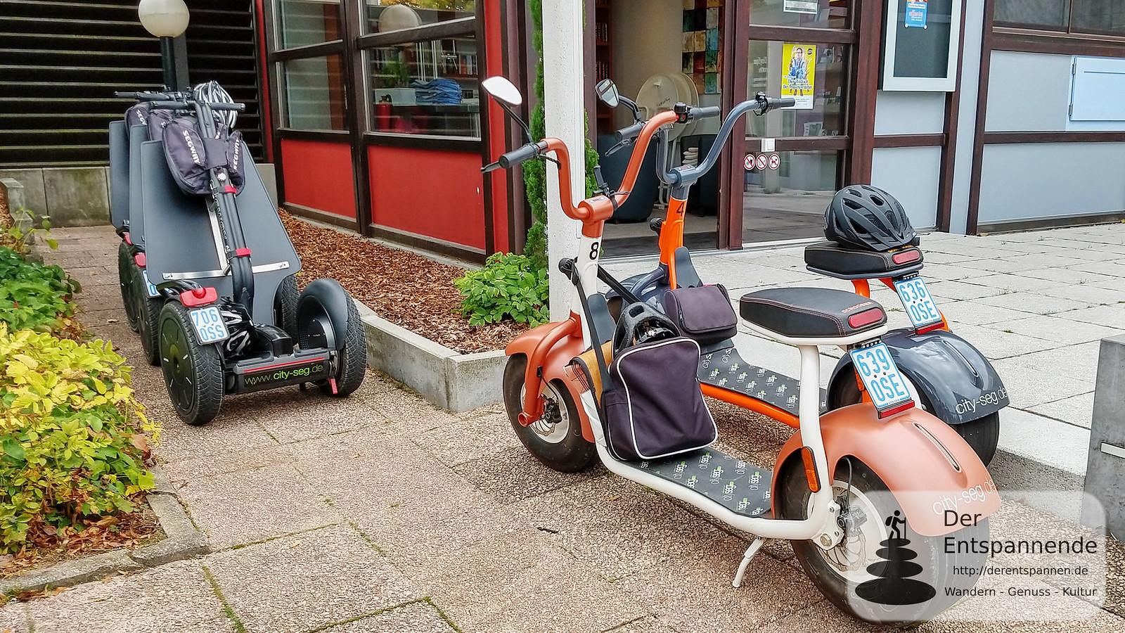 Segway-Tour mit Cityseg: Segways und Scrooser
