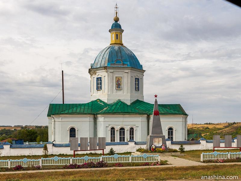 Церковь Казанской иконы Божией Матери в селе Новотолучеево, Воронежская область