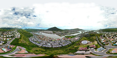 Hawaii Kai as seen from 324 feet above the Mariner's Ridge - an aerial 360° Equirectangular VR