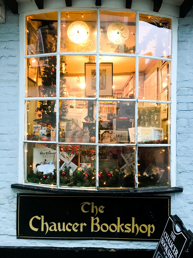 The Chaucer Bookshop Christmas Windows, Canterbury