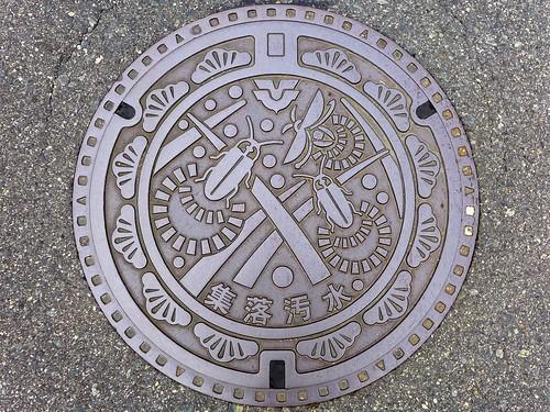 Shiwa Hiroshima, manhole cover (広島県志和町のマンホール)