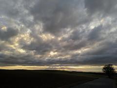 Ciel nuageux d'automne