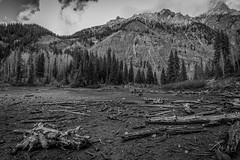 Dried Out Crater Lake