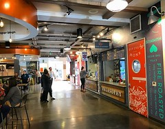 "Lunch at 4th Street Market in downtown Santa Ana, CA earlier today. Picture food trucks, just indoors. Lots of small one of a kind eating experiences here and also a ""restaurant incubator"" space. Great indoor environment and also great outdoor seating are"