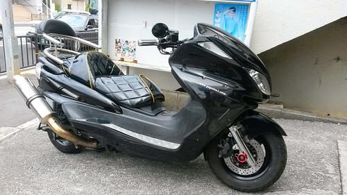 Komfort Motorroller in Naha Okinawa Japan