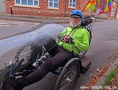 2-365-107 Keith on his stylish Recumbent Tricycle