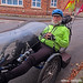 Keith on his stylish Recumbent Tricycle