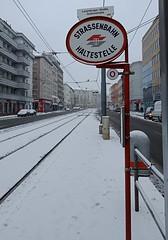 Old tram sign