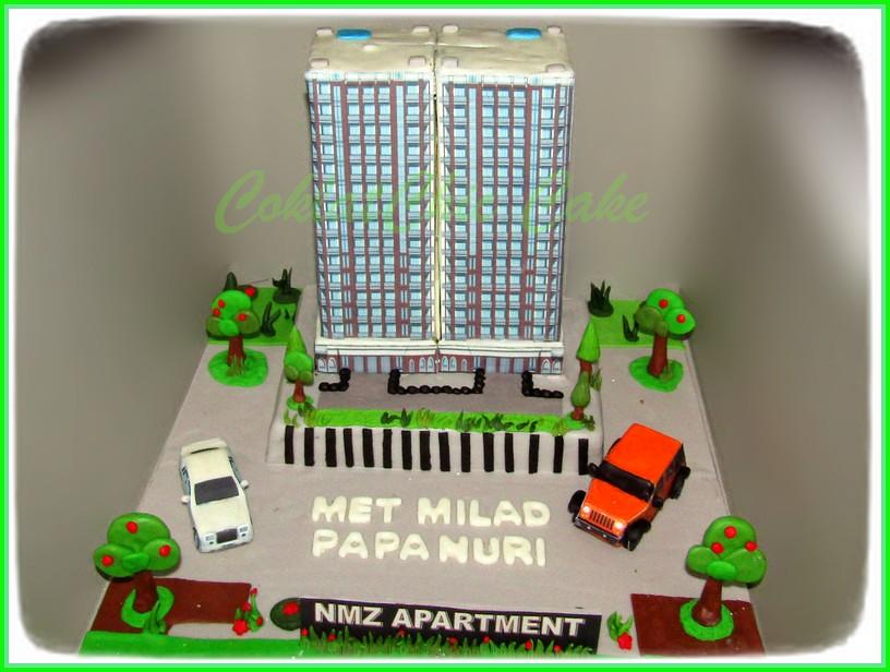 Cake Building Apertemen Papa Nuri 2 x 15 cm