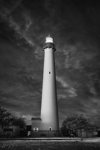 720nm beach capemay ir infrared lightouse monochrome nj newjersey