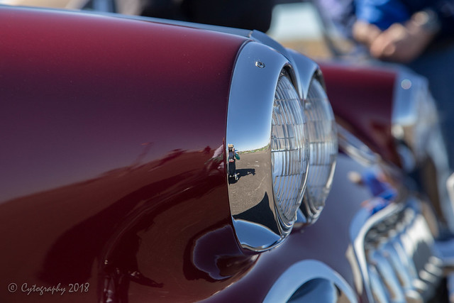 63 Vette headlight