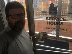Klamath Falls post office -- mailing post cards
