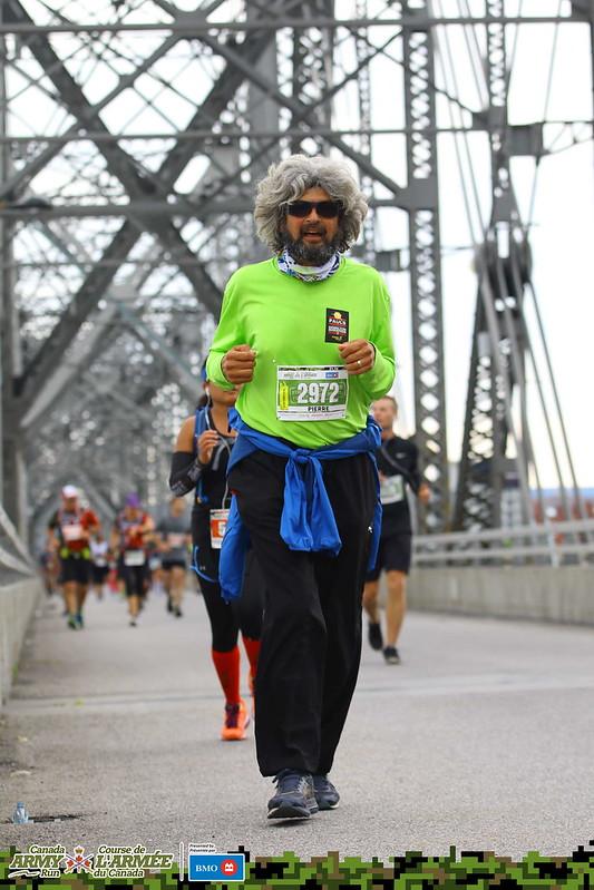 Army Run - Pierre on bridge