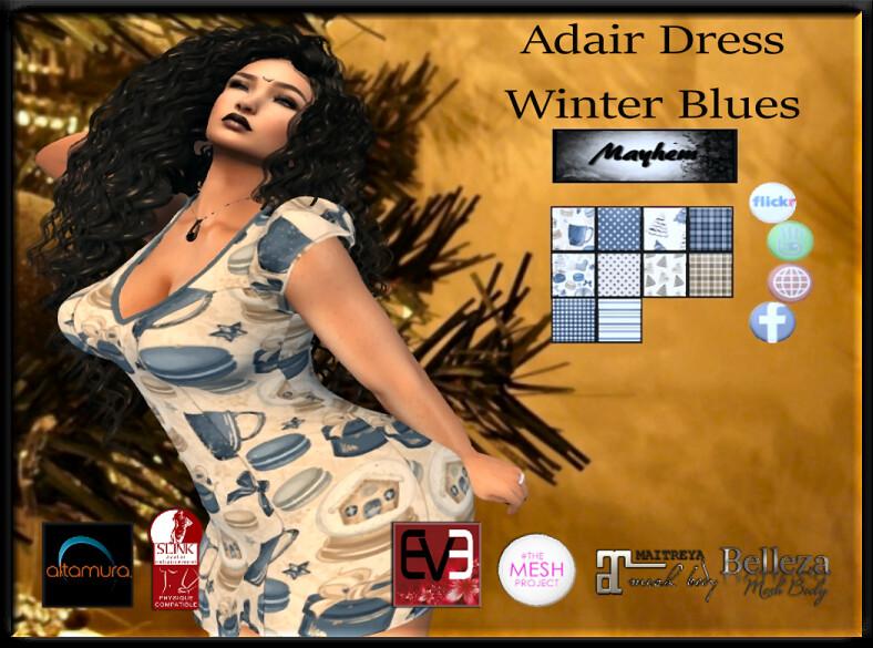 Mayhem Adair Dress Winter Blues AD