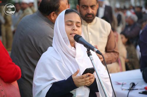 Devotional song by Mahila Sewa Dal volunteer