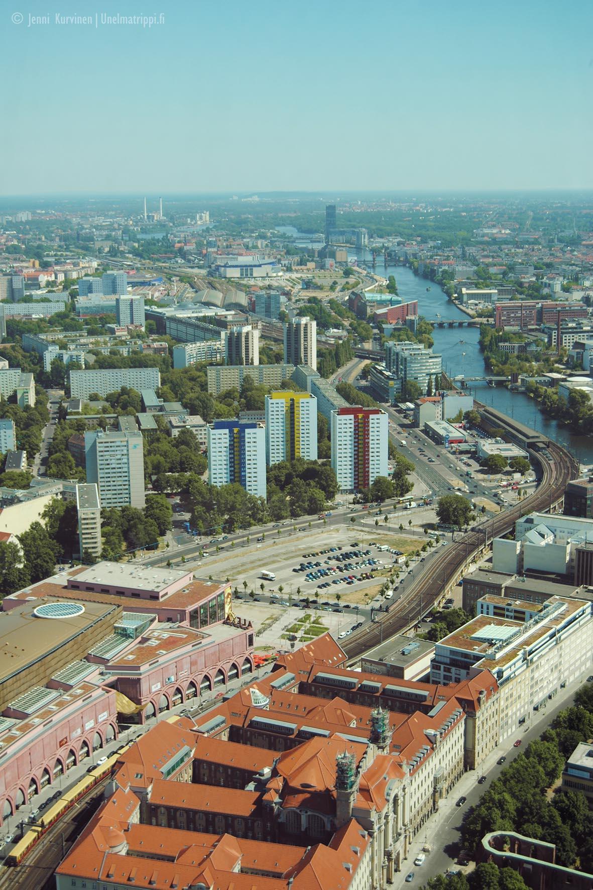 Näkymä Berliinin televisiotornista vuonna 2010