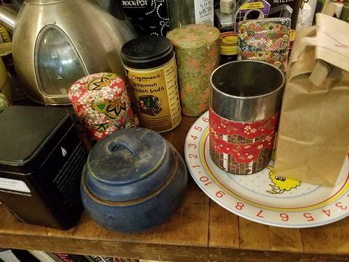 Refilling the Tea Tins
