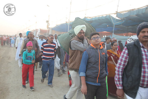 Arrival of devotees for the 71st Sant Samagam at Samalkha Ground