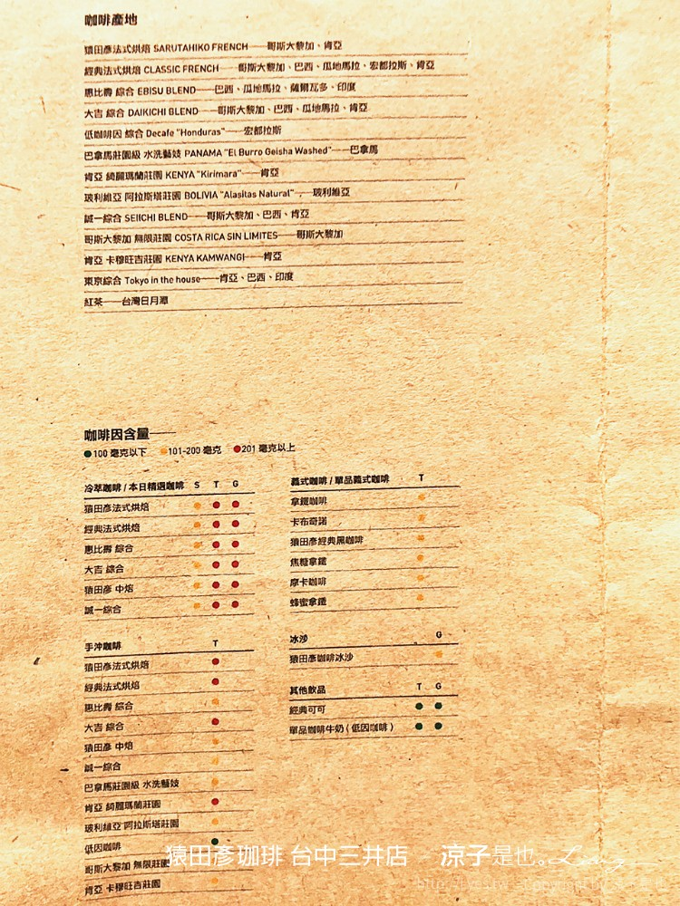 猿田彥珈琲 台中三井店 5