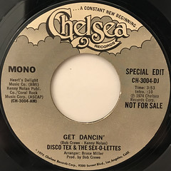 DISCO TEX & THE SEX-O-LETTERS:GET DANCIN'(LABEL SIDE-A)