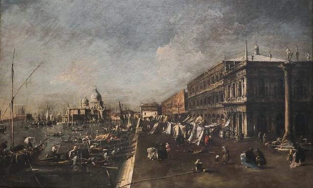 Venduta del Molo verso la basilica della Salute, Francesco Guardi, Venezia 1712-1793
