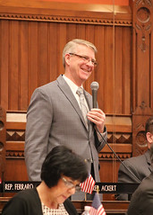 Rep. Ackert speaks on legislation during a session of the House