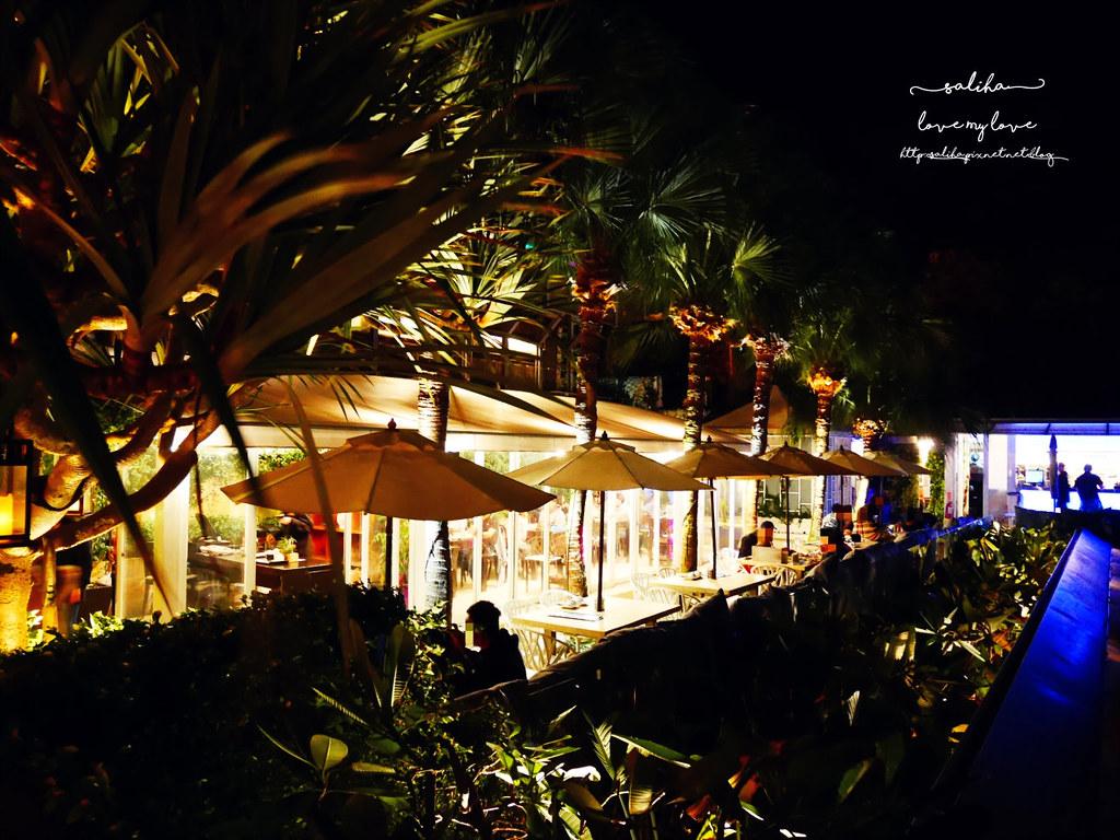 台北陽明山一日遊必吃必玩行程景點推薦THETOP屋頂上好吃景觀餐廳看夜景池畔 (12)